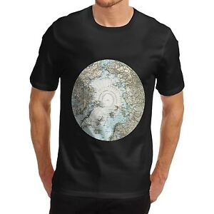 Mens atlas north pole vintage map educational cotton t shirt ebay la imagen se est cargando para hombres polo norte atlas vintage mapa educativo gumiabroncs Image collections