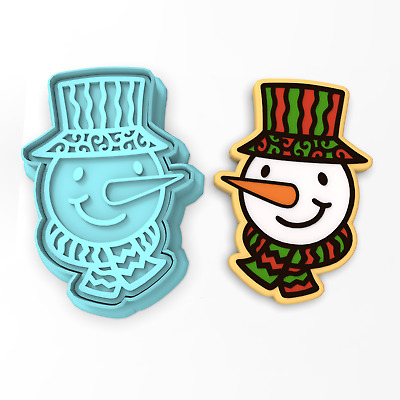 Stamp Christmas Hat Cookie Cutter