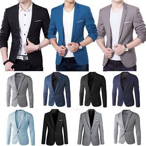 41216b8f04e Men Formal Blazer Coat Suit Jacket Party Wedding Party Black Slim ...