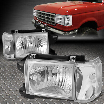 With Trim FO2520108 New Front Left Driver Side Corner Lamp For 1987-1991 Ford F-Series Lens And Housing