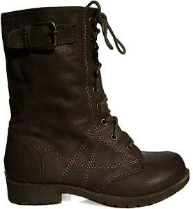 booties-combat-boots-girl-girl-baby-laces-zipper-brown-30-31-32-33-34