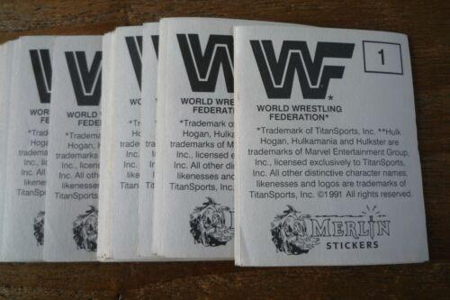 Merlin WWF autocollants de 1991-très bon état! Choisissez les autocollants que vous avez besoin!