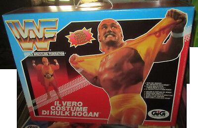 Vestito Costume Wf Wrestling Carnevale Gioco Hulk Hogan Gig 1992 Vintage Garanzia Al 100%