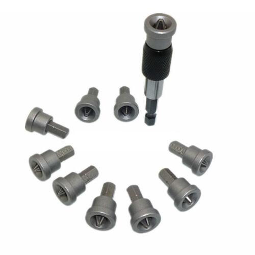 "11pcs//Set Drywall Screwdriver Bits 1//4/"" Hex Shank Magnetic Drill Driver Holder"