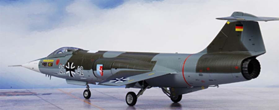 72016-07 Witty F-104G Starfighter Luftwaffe JBG 36, 1 72 diecast