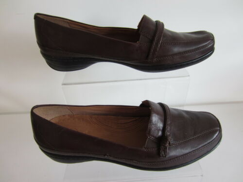 Ladies marrone 7 in Uk pelle Ray scuro Ee go Electric Mocassino Clarks Fit 4qwpZpa