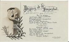 $0.99! 100+ YEARS OLD! B & W: DESPUES DE LA TEMPESTAD - POSTCARD!