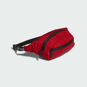 3f03c335404 NWT Adidas Originals National Waist Pack Bag Red Black Tree Trefoil ...