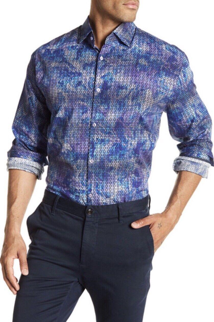 e6873568 STONE pink MEN'S Purple LONG Shirt NWT Sleeve U.S.M natabp1254-Casual Shirts  & Tops