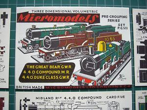 Micromodels-PG7-Pre-Grouping-1923-GWR-amp-MR-Locomotives-3-Vintage-1950s