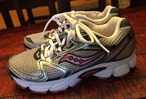 76f32368f854 Women s silver Saucony Grid Cohesion 5 Athletic shoe size 5 ...