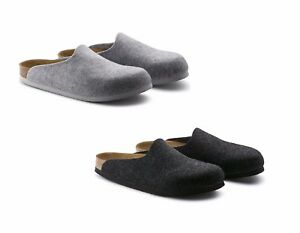 Image is loading Birkenstock -Amsterdam-Grey-Anthracite-Slippers-Slippers-Man-Woman- 10fb0056a2d