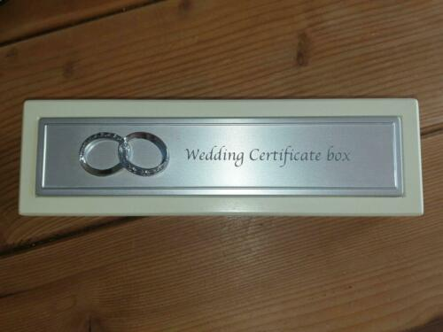 Vintage Style Wedding Certificate Holder Box In Cream Newly Married Couples Gift