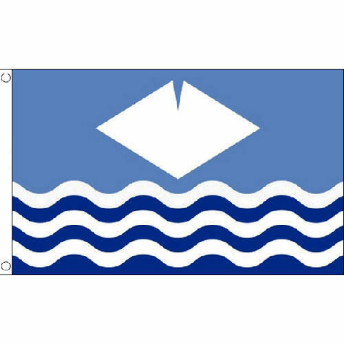 Isle Of Wight New Waves Small Flag 3Ft X 2Ft With 2 Metal Eyelets New