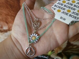 CLOSEOUT-SALE-Imported-From-USA-9-99-Joe-Boxer-3-Layer-Flower-Heart-Necklace
