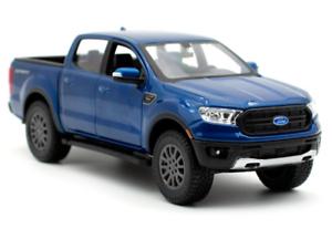 MAISTO-1-27-2019-FORD-Ranger-Blue-DIECAST-MODEL-CAR-NEW-IN-BOX