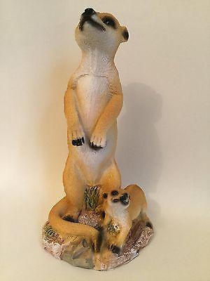 Meerkat with Pup Figurine / Ornament