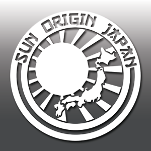 Sun Origin Japan Rising Sun JDM Novelty Car Vinyl Decal ...
