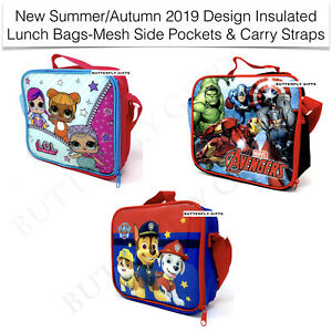 LOL-Avengers-Paw-Lunch-Bag-Box-Thermal-Insulated-Mesh-Side-Pocket-Shoulder-Strap