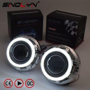 3-0-039-039-HID-Bi-xenon-Lens-Headlight-Projector-COB-LED-Angel-Eyes-Halo-DRL-Headlamp