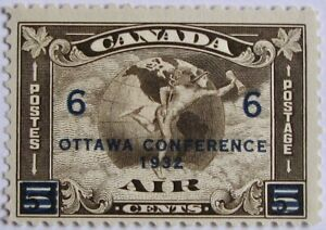 CANADA-C4-Fine-MH-5-Cent-Overprinted-Air-Mail-Stamp