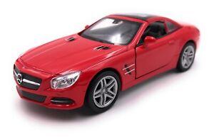 Voiture-miniature-MERCEDES-BENZ-sl500-rouge-voiture-echelle-1-34-39-LGPL