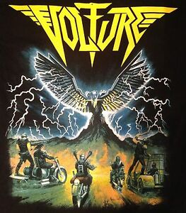 VOLTURE-US-Heavy-Metal-T-Shirts-On-The-Edge-BLACK