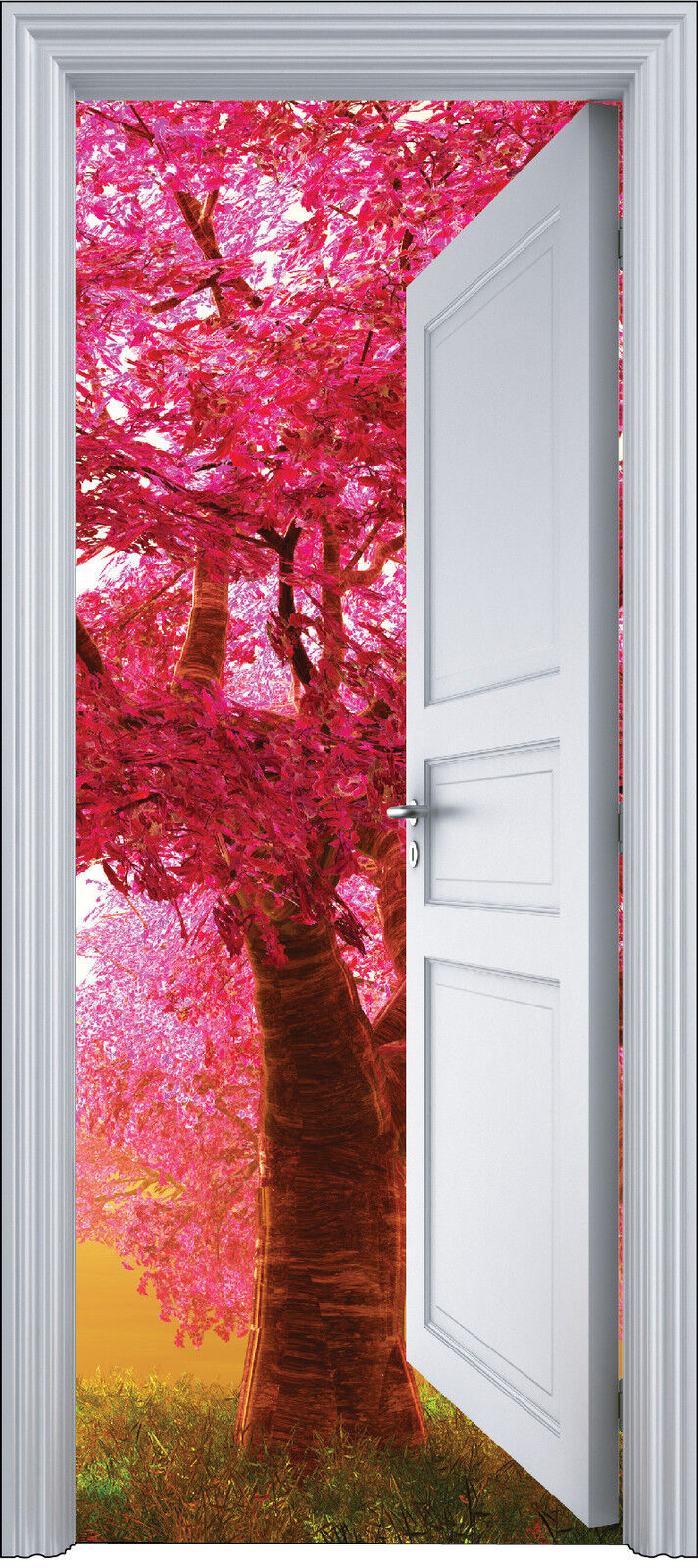 Aufkleber Tür Schein Auge Deko Baum Herbst 90x200 cm Ref 2146