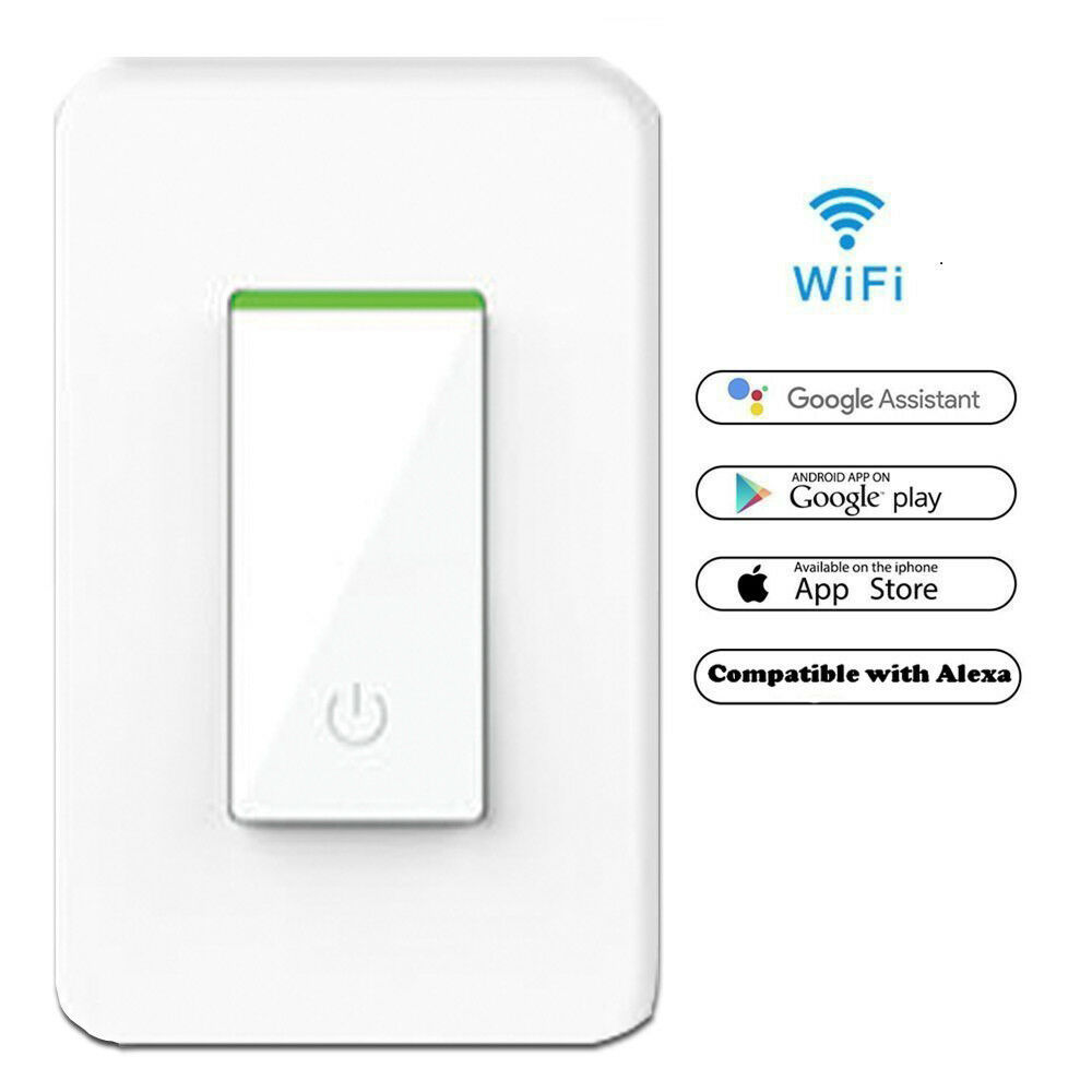 Details about Smart WIFI Light Switch Works with Alexa Google Home IFTTT  Tuya & Smart life App