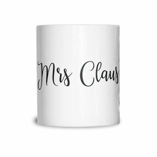 "Details about  /Novelty Christmas Mug /""Mrs Claus/"" Slogan Festive Xmas Couples Cute"