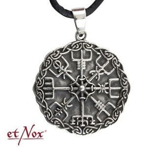 Echt-etNox-Wikinger-Kompass-Anhaenger-925er-Silber-Symbol-Schmuck-NEU