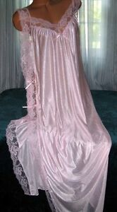 Light-Pink-Toga-Style-Lace-Open-Tie-Look-Side-Long-Nightgown-1X-3X-Plus-Size