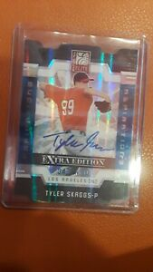 TYLER-SKAGGS-2009-DONRUSS-ELITE-EXTRA-EDITION-BLUE-DIE-CUT-RC-43-100-Autograph