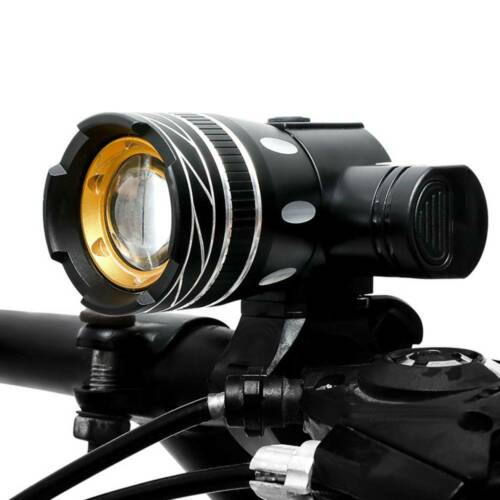 USB Rechargeable Bicycle Light Set Bike Front LED Zoomable Headlamp lamp T6 UK
