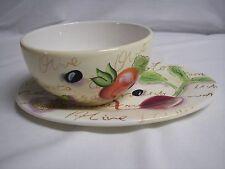 item 2 Soup Bowl \u0026 Sandwich Plate Set Nantucket Home Rare Vegetable Design -Soup Bowl \u0026 Sandwich Plate Set Nantucket Home Rare Vegetable Design & Veggie Vegetable Soup Sandwich Plate Bowl Mug Set Vegetarian Corn ...