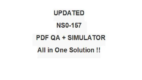 NetApp Certified Data Administrator Clustered Data ONTAP Test NS0-157 Exam Q/&SIM