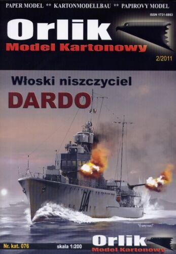 Italienische WWII Zerstörer DARDO # Maßstab 1:200 # Kartonmodellbau # ORLIK-076