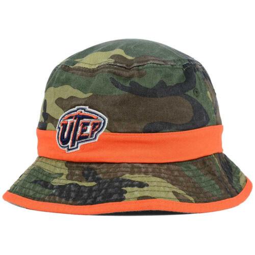 UTEP Miners NCAA Sneak Attack Woodland Camo Bucket Hat Cap Lid Salute to Service