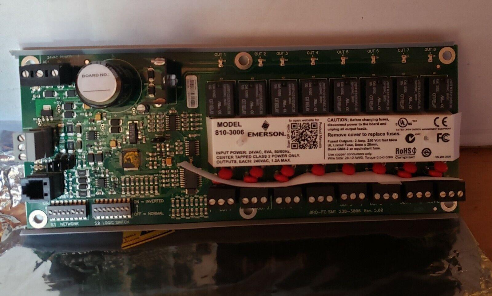 Emerson Analog Input Board Climate Tec CPC Control Board 810-3013 Multi-Flex 16