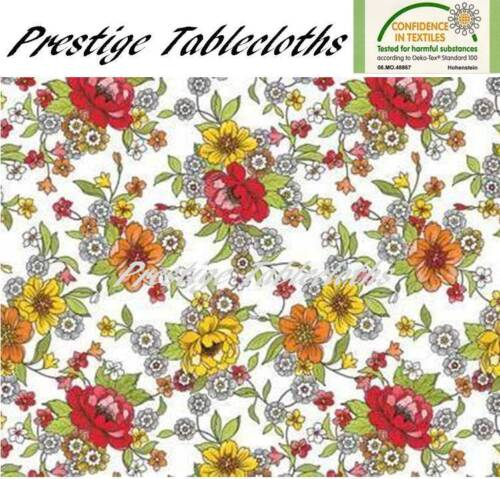 ALL SIZES Flowers Leaves PVC Vinyl Wipe Clean Tablecloth Code F705-1