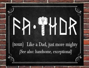 FATHOR - BLACK METAL WALL SIGN GIFT PRESENT Fathers Day Dad Daddy Grandad Uncle