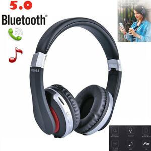 Plegable-Auriculares-Cascos-bluetooth-Inalambrico-Headset-Estereo-HIFI-FM-TF-Mic