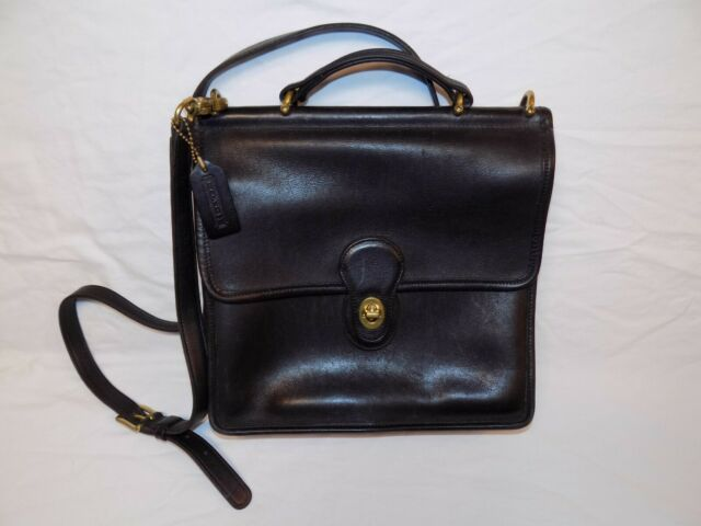 f5433ee08cc8b Vintage Coach Willis 9927 Black Leather Bag Purse Made in USA