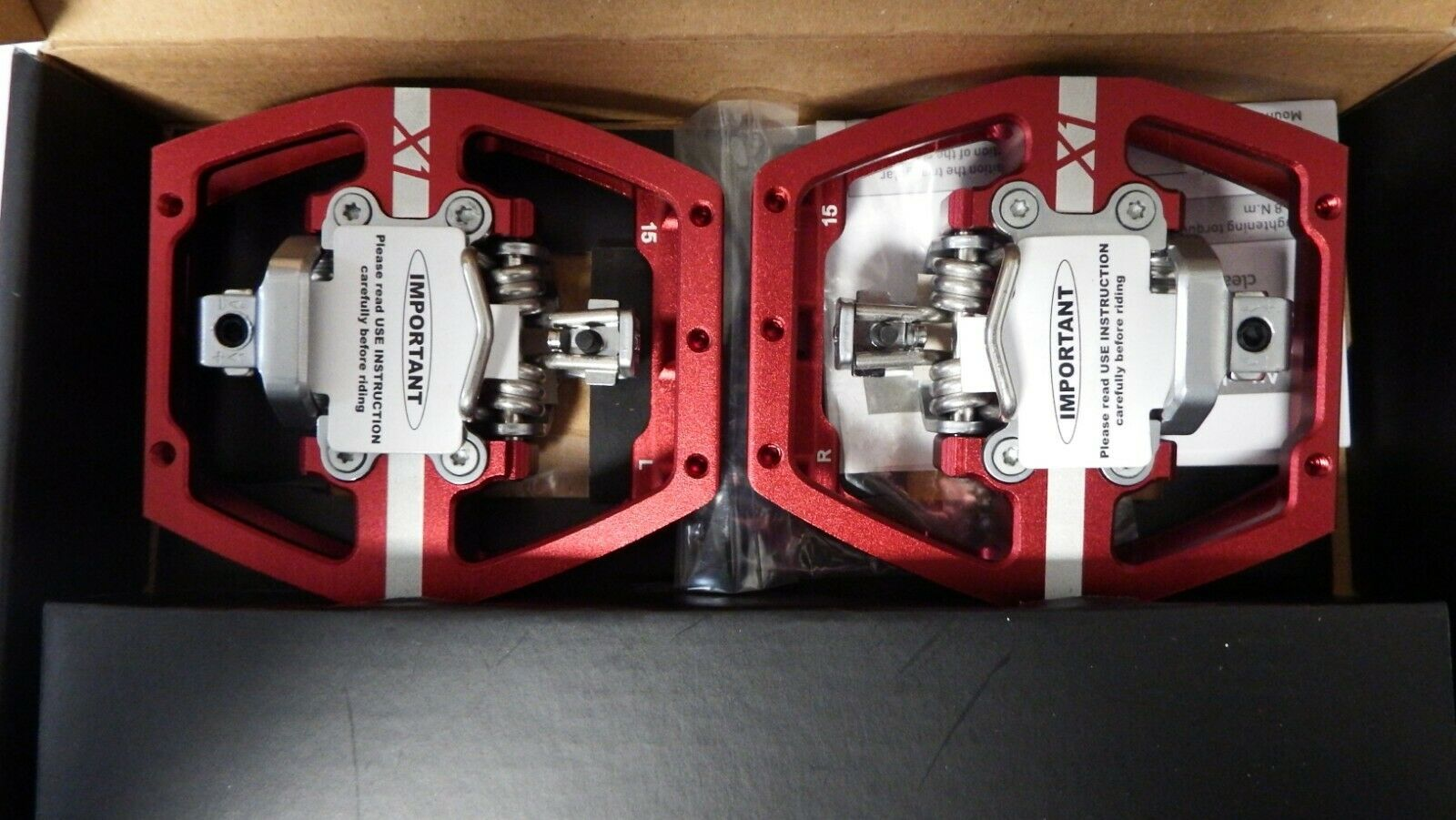 HT X-1 PEDALS  Red BRAND NEW RRP  .99  40% off