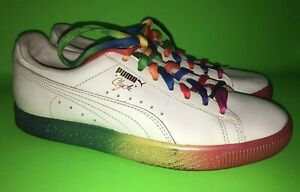 save off 8e867 728fd Details about Puma Clyde Pride Rainbow Sneakers LGBTQ Euro 37.5 Youth 5.5  Women's 6.5/ 7