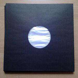 15-LP-Innenhuellen-Deluxe-Kunststoff-Fuetterung-Schwarz-fuer-12-034-Vinyl-NEU