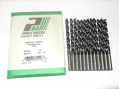 135° Split Point 5-Pack TWILL Letter P Jobber Length Twist Drills Black Oxide