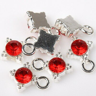 30x 140264 Wholesale New Cute Silver Plated Rhinestone Charm Pendant