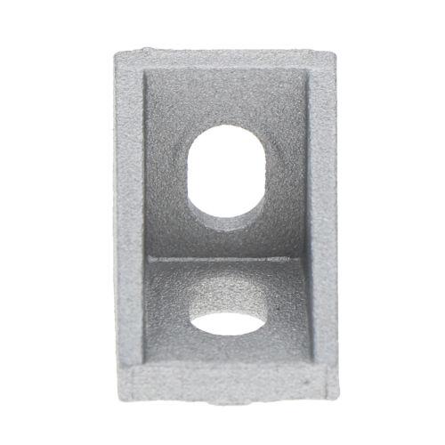 20Pcs 2020 corner fitting angle aluminum 17x20x20 connector bracket fastenH5
