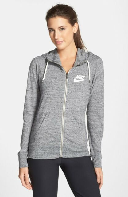 e46a6d7ba5f9 Nike Gym Vintage Hoodie Sweatshirt Women XL Heather Gray Zip 813872 ...